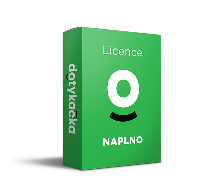 Licence Dotykačka NAPLNO